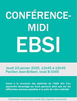 Conférence-midi à l'EBSI- Diplômés