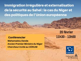 Immigration irrégulière et externalisation de la sécurité au Sahel : le cas du Niger et des politiques de l'Union européenne