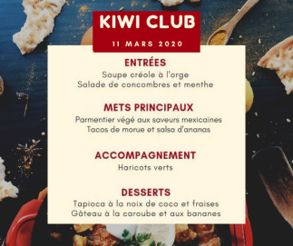 Événement Nutrition Kiwi club - complet