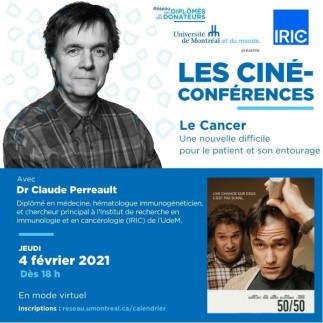 CINÉ-CONFÉRENCES VIRTUELLES | Avec Dr Claude Perreault et ses invitées