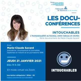 LES DOCU-CONFÉRENCES | Avec Marie-Claude Savard