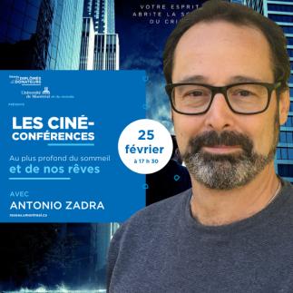 LES CINÉ-CONFÉRENCES VIRTUELLES   Avec Antonio Zadra