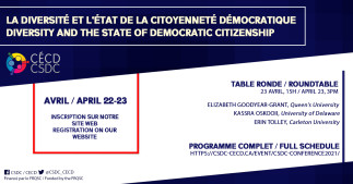 Conférence du CÉCD - La diversité et l'état de la citoyenneté démocratique