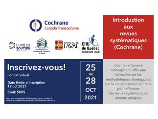 Formation Introduction aux revues systématiques (Cochrane)