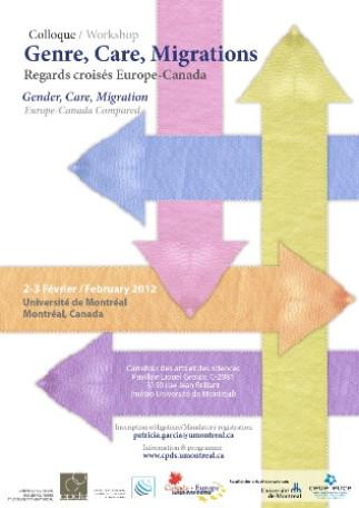 Colloque: Genre, Care, Migrations. Regards croisés Europe-Canada